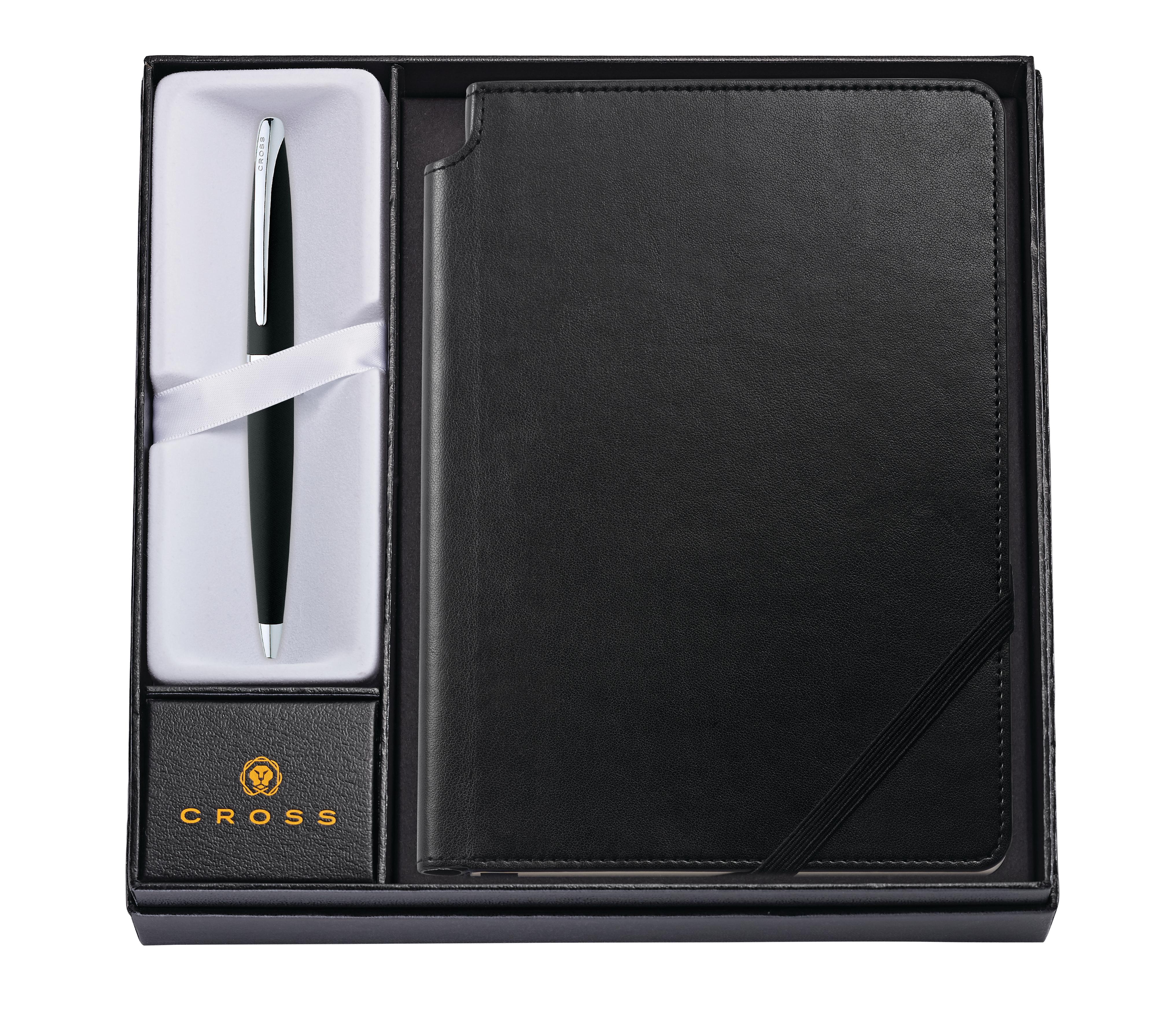 ATX Basalt Black Ballpoint Pen with Medium Classic Black Journal