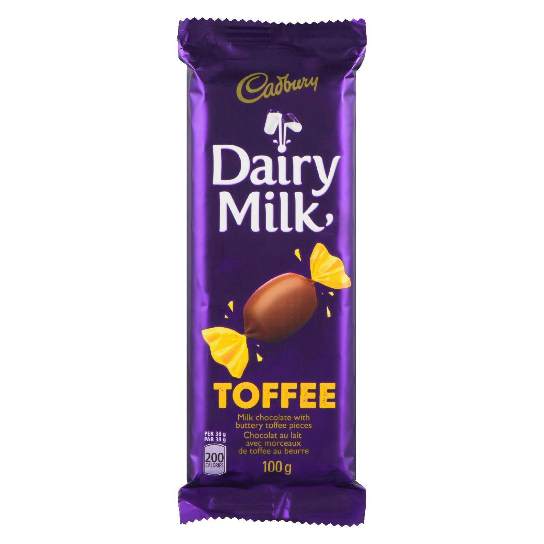 CADBURY DAIRY MILK  TOFFEE 100 GRM