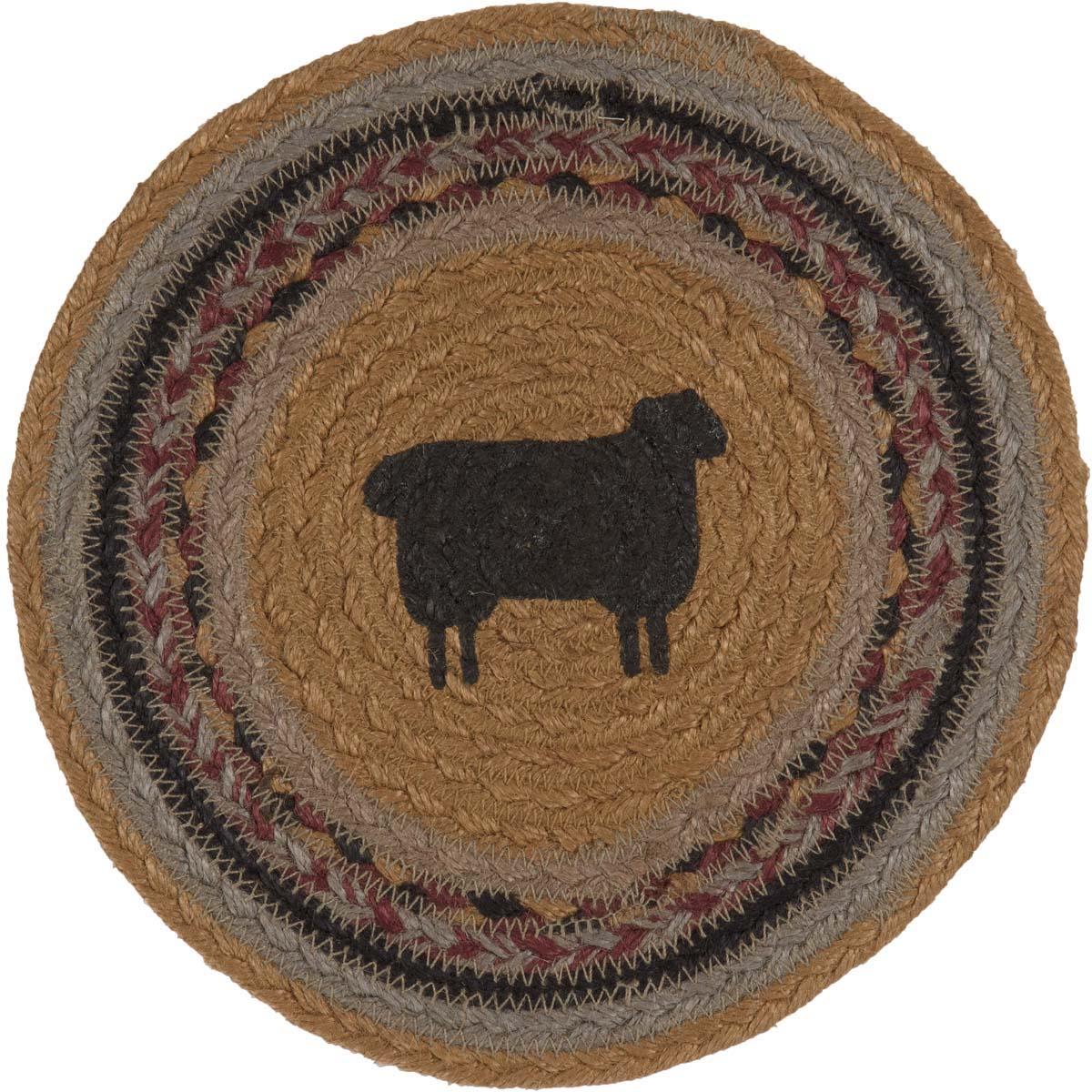 Heritage Farms Sheep Jute Trivet 8