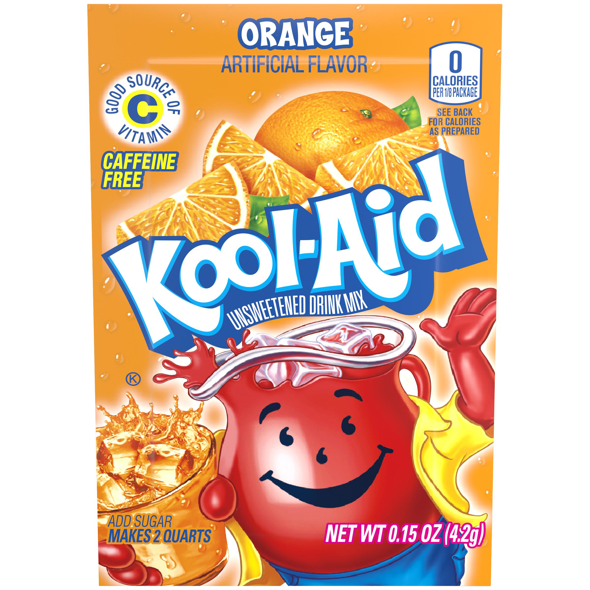 KOOL-AID Orange Drink Mix Unsweetened 0.15 oz Packet image