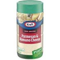 Kraft 100% Grated Parmesan & Romano Cheese Shaker, 8 oz Bottle