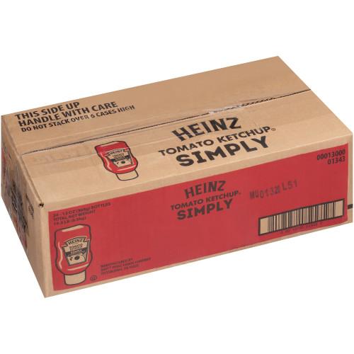 SIMPLY HEINZ Ketchup Inverted Bottle, 13 Oz. Bottles (Pack Of 24)