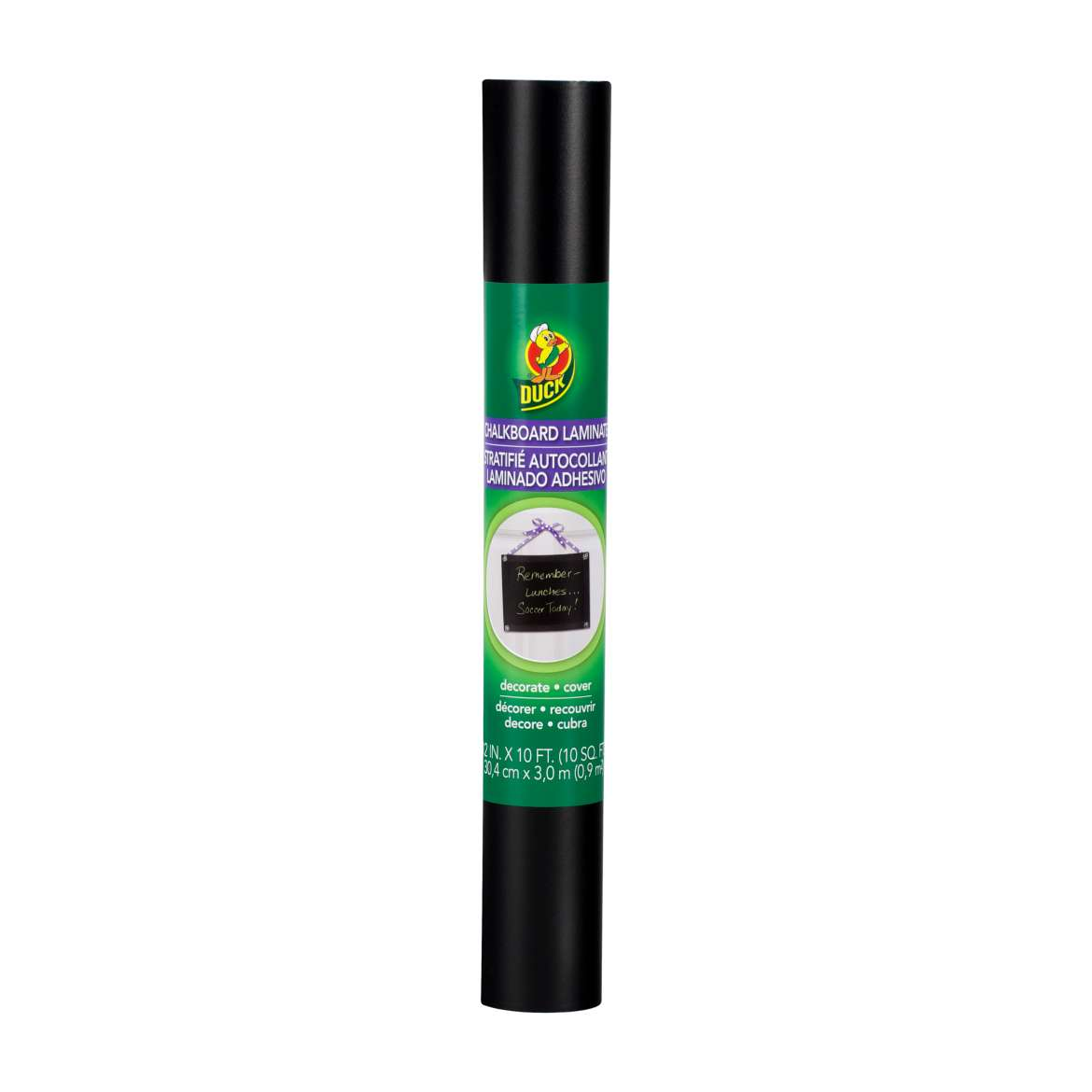 Duck® Brand Deco Adhesive Laminate - Chalkboard, 12 in. x 10 ft. Image