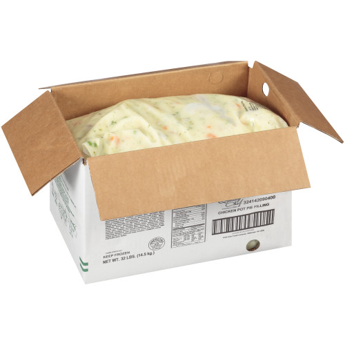 QUALITY CHEF Chicken Pot Pie Filling, 8 lb. Frozen Bag  (Pack of 4)