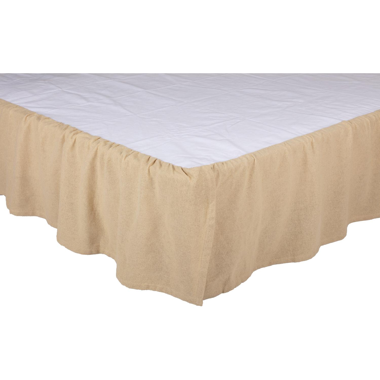 Burlap Vintage Ruffled King Bed Skirt 78x80x16