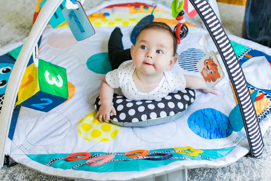 Introducing the Sensory Play Space™ Newborn-to-Toddler Discovery Gym. Shop Now.