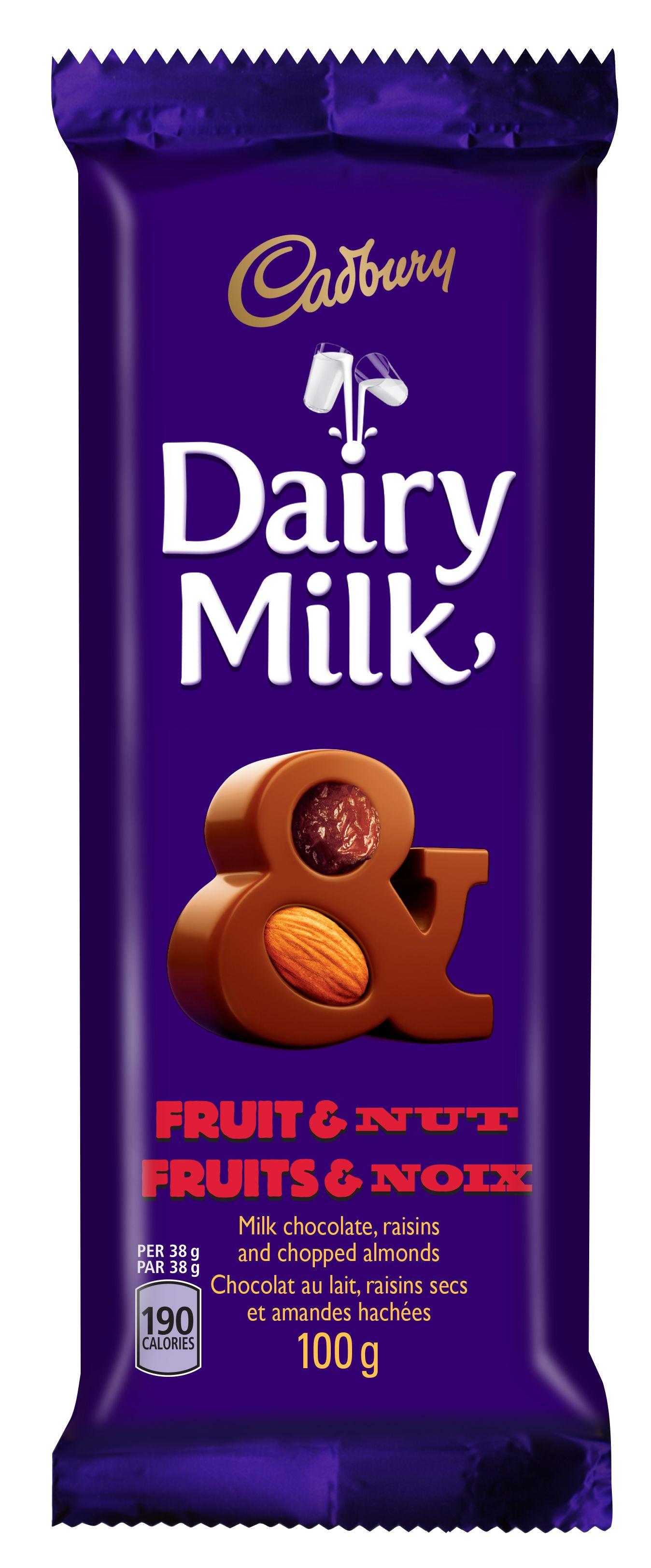 Cadbury Dairy Milk Fruit And Nut Chocolate Bar 100 G