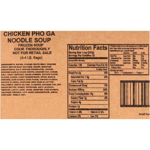 HEINZ TRUESOUPS Chicken Pho Ga Noodle Soup, 4 lb. Bag (Pack of 4)