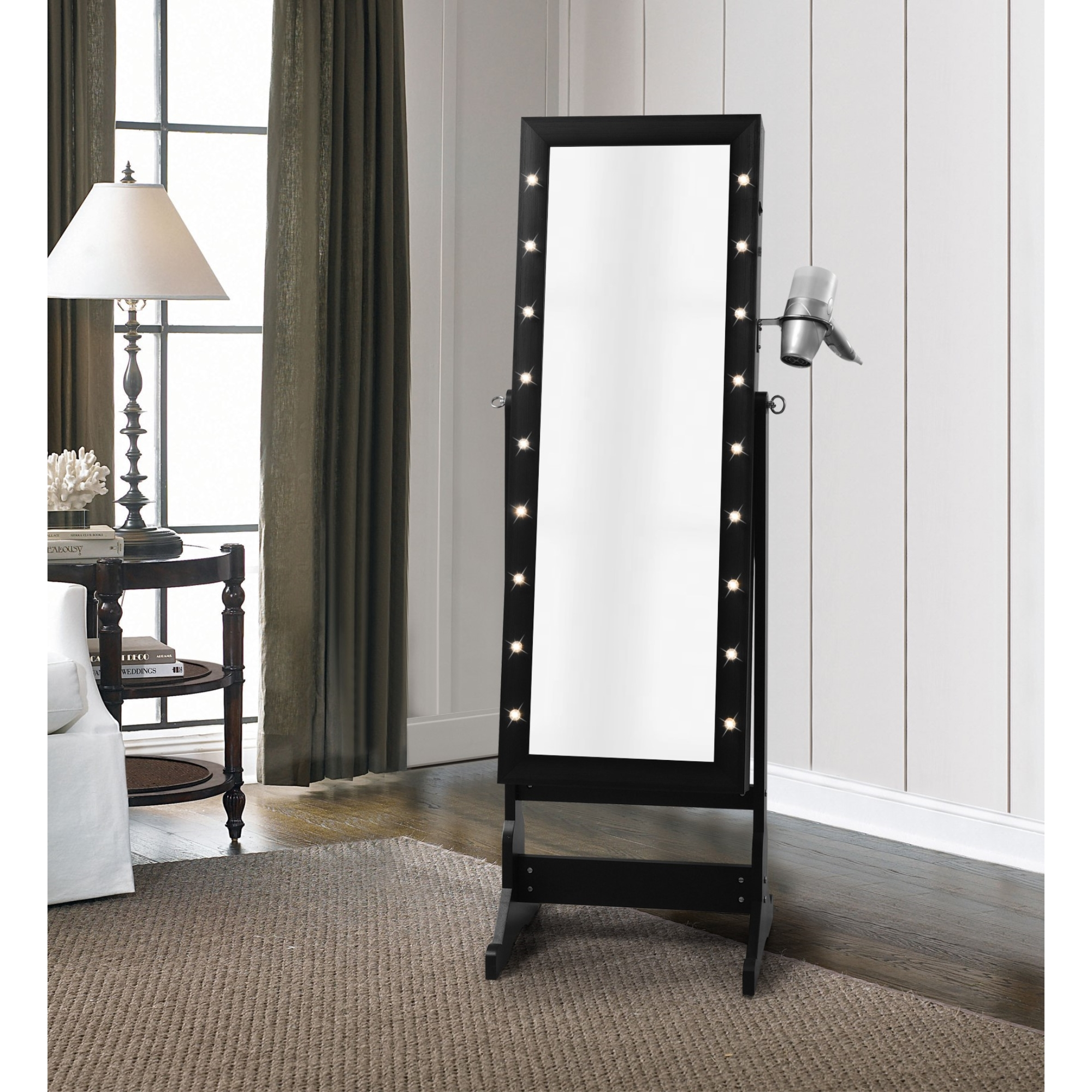 Inspired Home Black Jewelry Furniture Marquee Lights