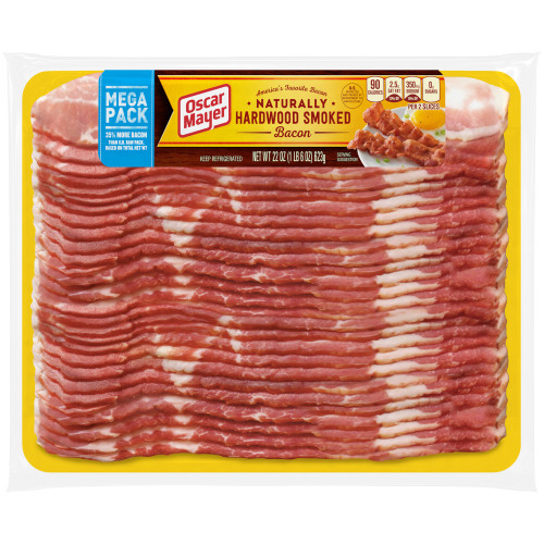 Oscar Mayer Naturally Hardwood Smoked Bacon, 22 oz