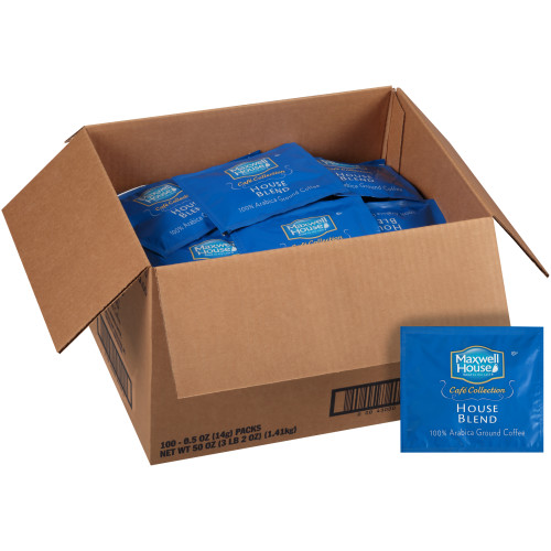 MAXWELL HOUSE Café Collection Roast & Ground In-Room Coffee, 0.5 oz. Packet (Pack of 100)
