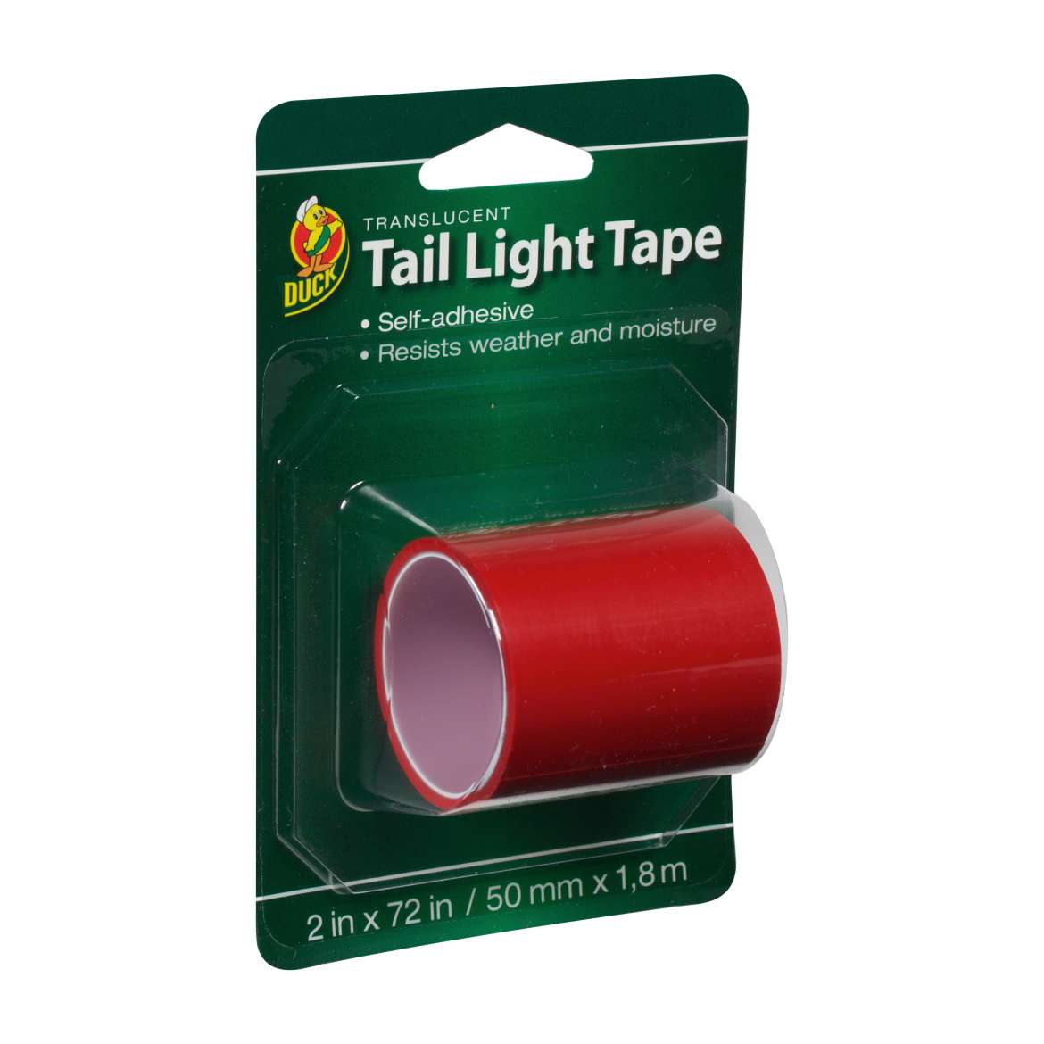 Duck® Brand Translucent Tail Light Tape - Red, 2 in. x 72 in. Image