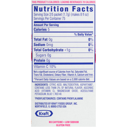 CRYSTAL LIGHT Single Serve Sugar-Free Cherry Pomegranate On-the-Go Powdered Mix, 30-0.1 oz. Packets (Pack of 4 Boxes)