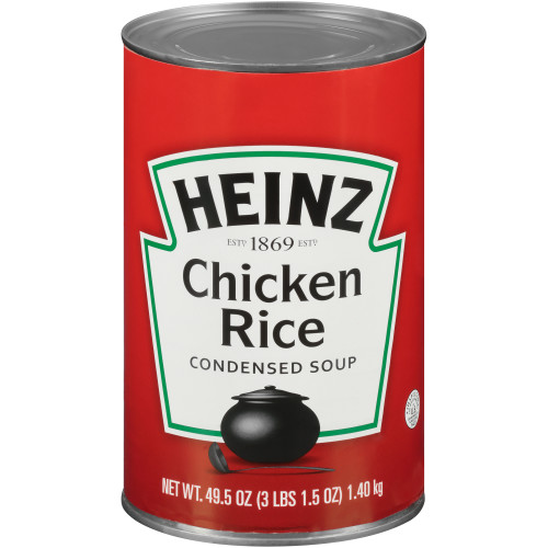 HEINZ Condensed Chicken with Rice Soup, 49.5 oz. Can, (Pack of 12)