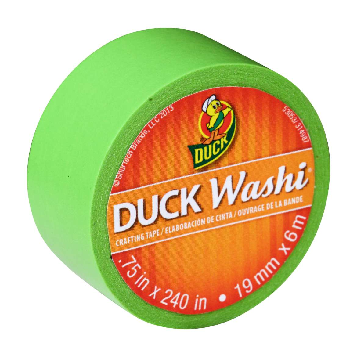 Duck Washi® Crafting Tape - Lime, .75 in. x 240 in. Image