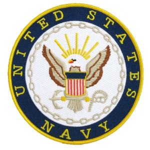 Embroidered Military Patch- NAVY