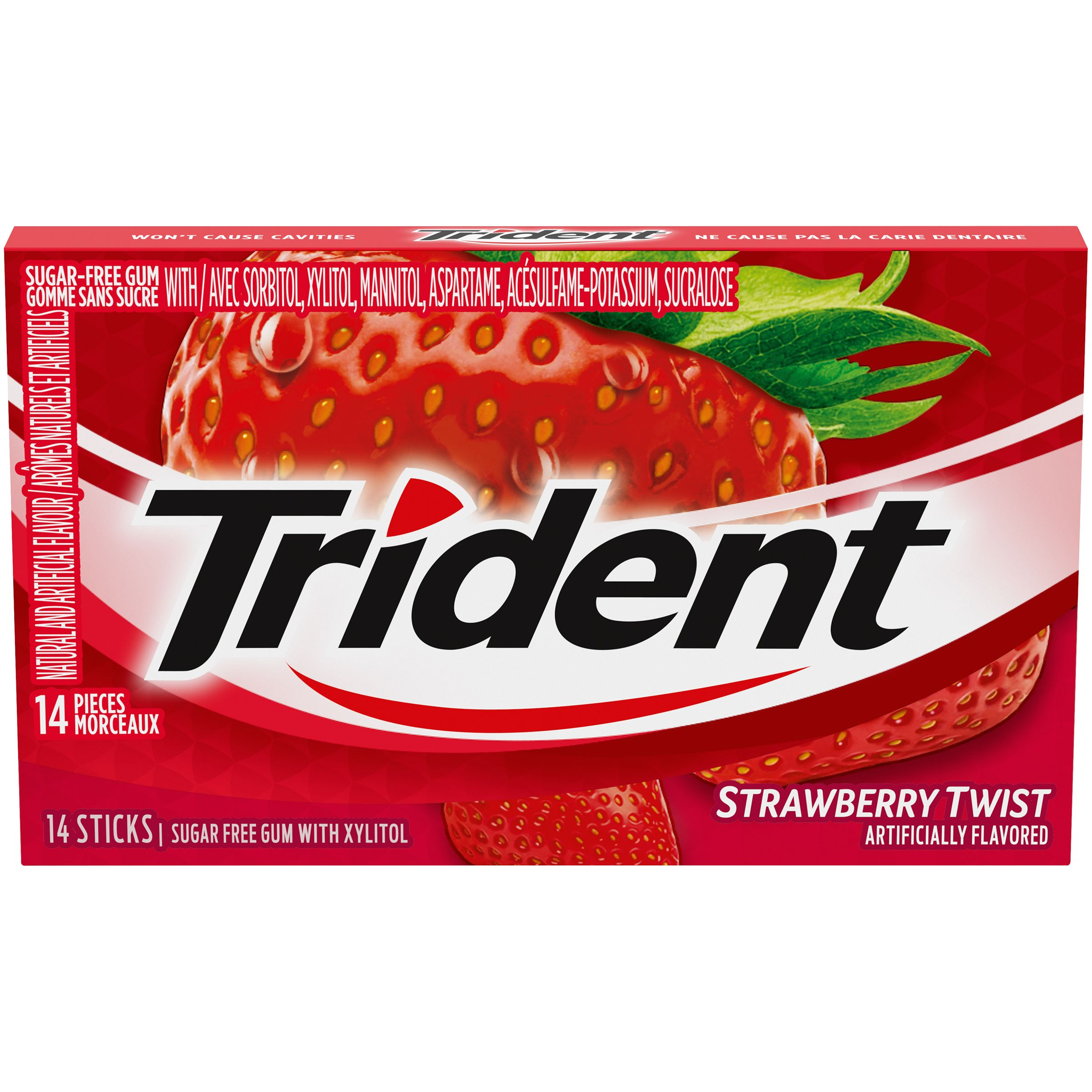 Trident Strawberry Twist Gum 14 Count