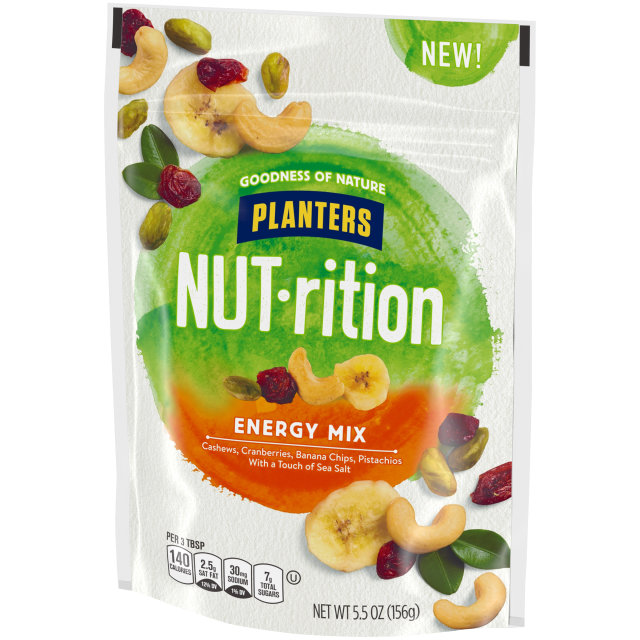 Planters Nutrition Snack Nut and Dried Fruit Mix Energy 5.5 oz Bag