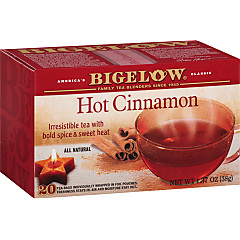 Hot Cinnamon Black Tea - Case of 6 boxes - total of 120 teabags