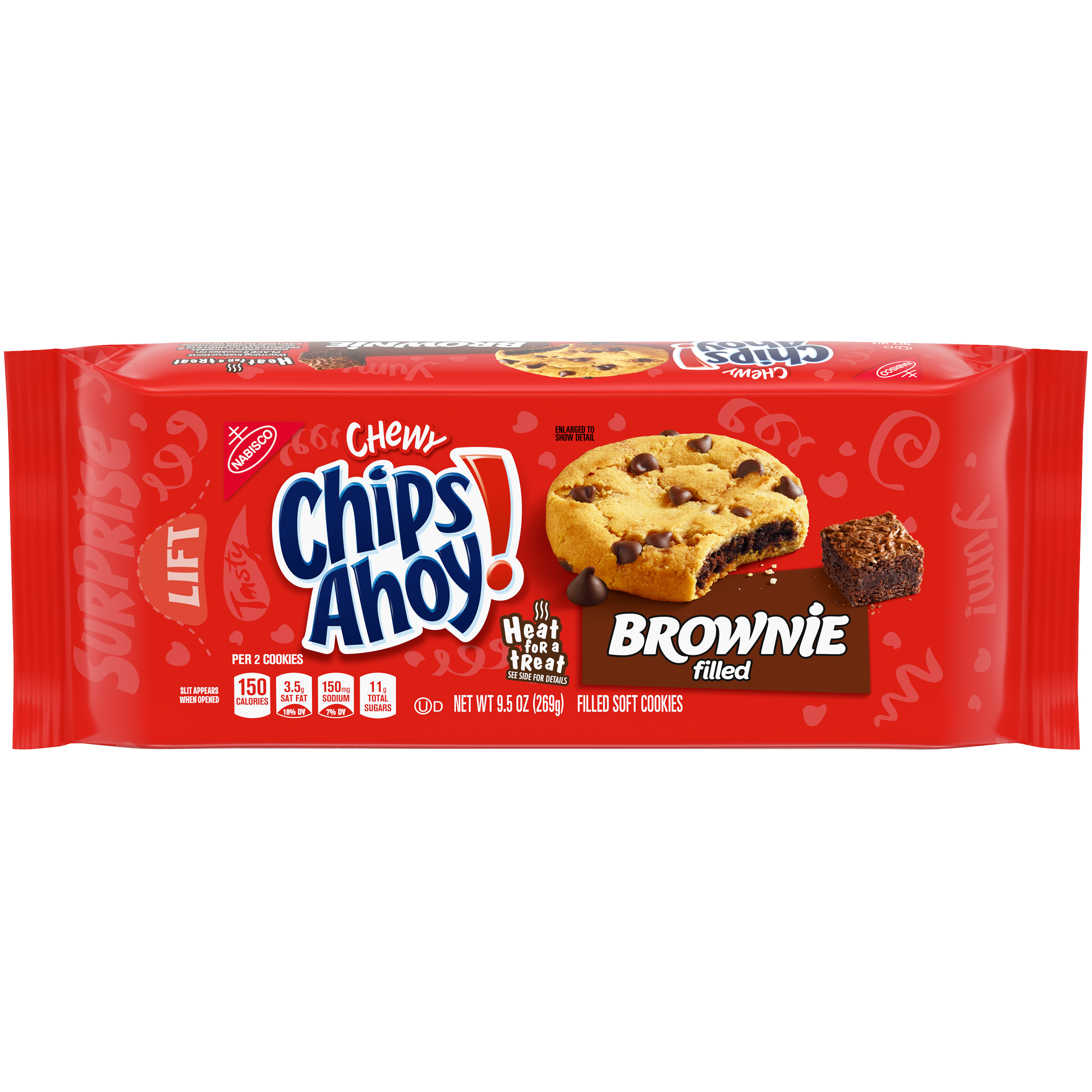 CHIPS AHOY! Chewy Brownie Filled Cookies 9.5 oz