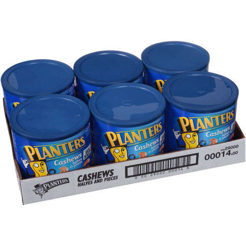 PLANTERS Cashew Halves, 46 oz. Bulk Container (Pack of 6)