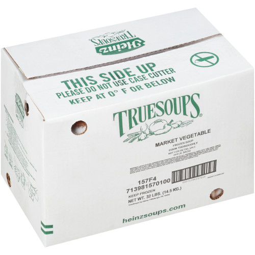 HEINZ TRUESOUPS Market Vegetable Soup, 8 lb. Bag (Pack of 4)