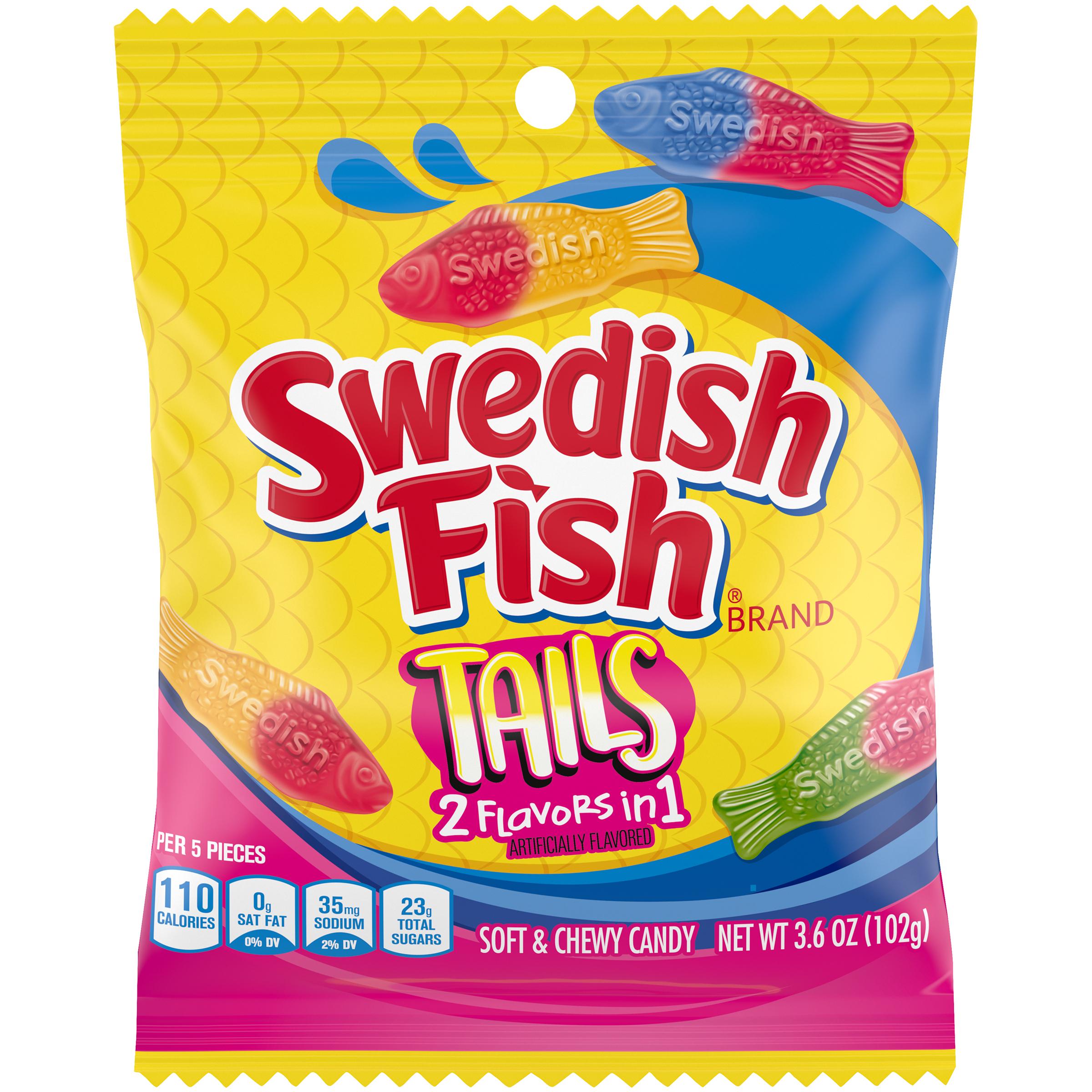 SWEDISH FISH Tails Tails Soft Candy 3.6 oz