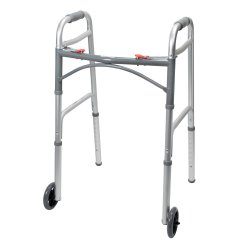 Folding Walker, McKesson, Aluminum Frame 350 lbs. Weight Capacity 32 to 39 Inch Height, 146-10210-4 - Case of 4