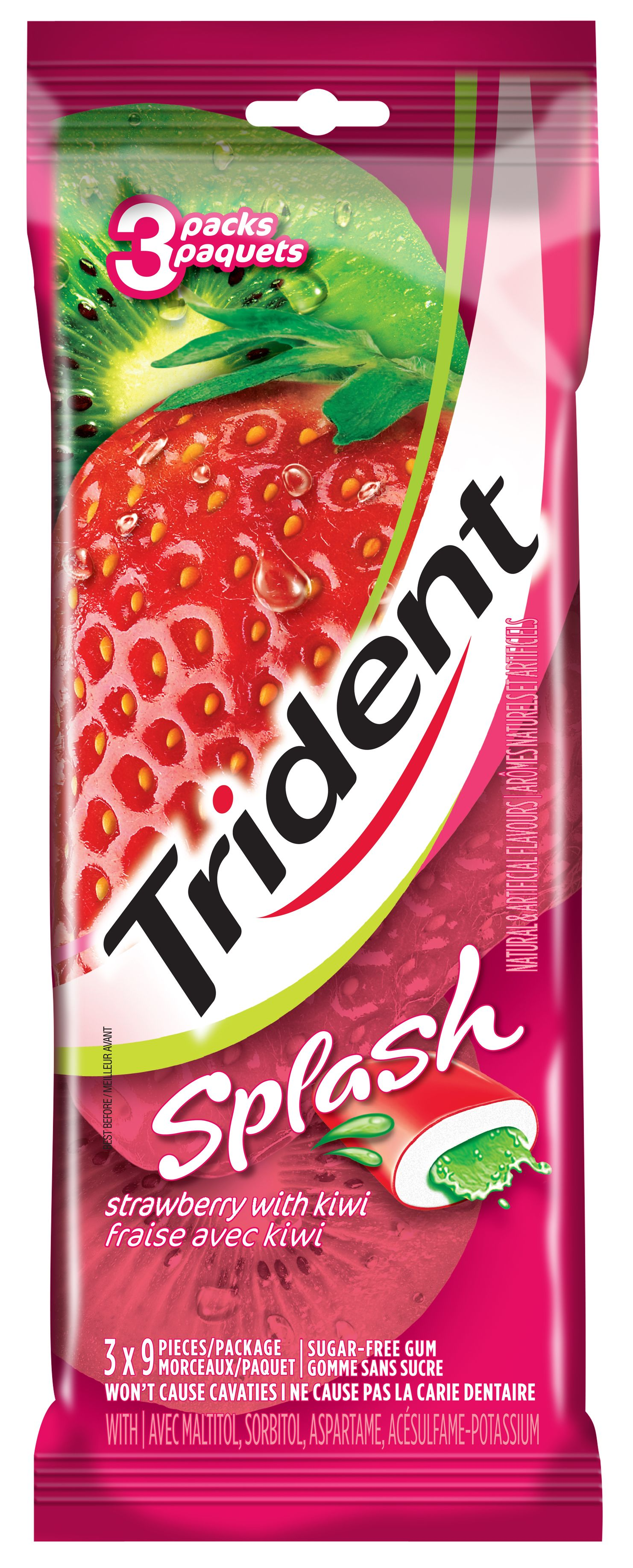 Trident Splash Strawberry Kiwi Gum 27 Count