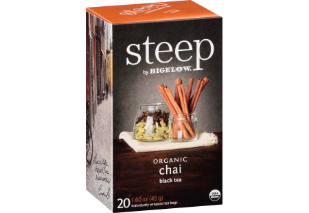 chai black tea - case of 6 boxes - total of 120 teabags