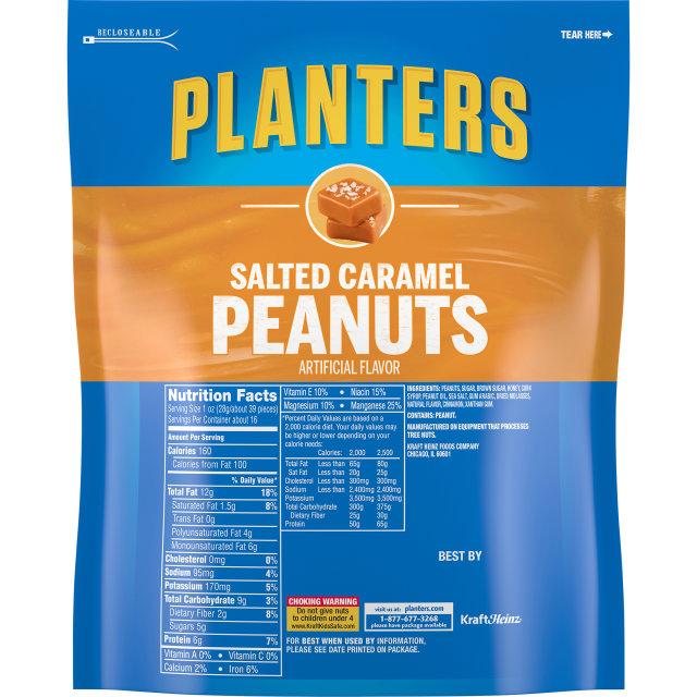 PLANTERS Salted Caramel Peanuts 16 oz Bag