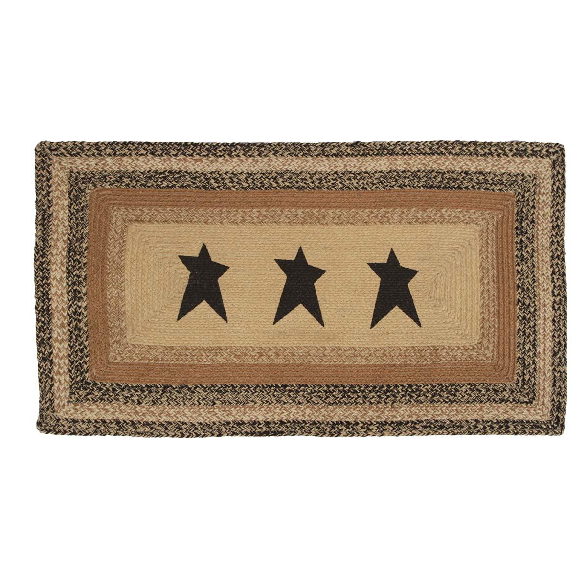 Kettle Grove Jute Rug Rect Stencil Star 27x48