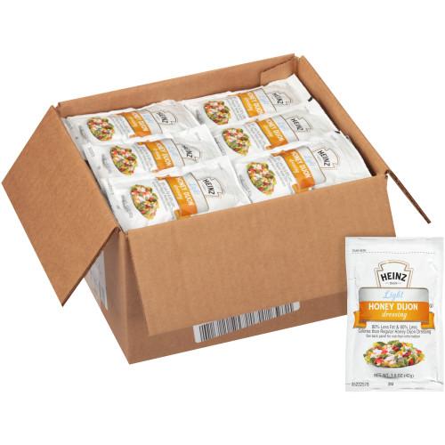 HEINZ Single Serve Light Honey Dijon Dressing, 1.5 oz. Packets (Pack of 60)