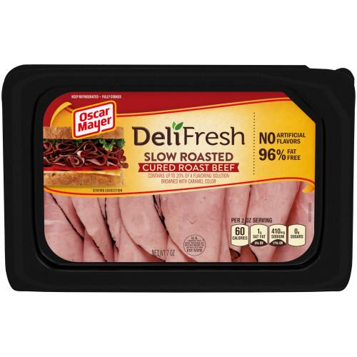 Oscar Mayor Deli Fresh Slow Roasted Cured Roast Beef Tray, 7 oz