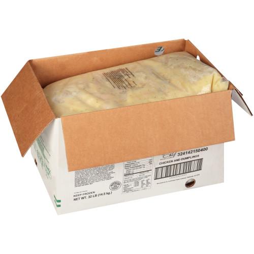 QUALITY CHEF Chicken & Dumplings, 8 lb. Frozen Bag (Pack of 4)