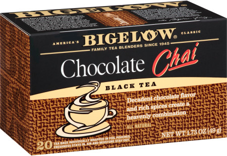 Chocolate Chai Tea - Case of 6 boxes- total of 120 teabags