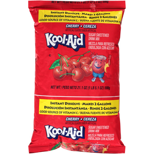 KOOL-AID Cherry Powdered Drink Mix, 21.1 oz. Pouch (Pack of 15)
