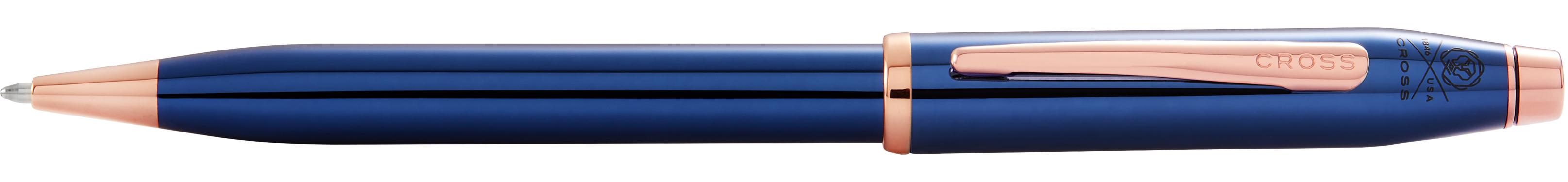 Century II Translucent Cobalt Blue Lacquer Ballpoint Pen