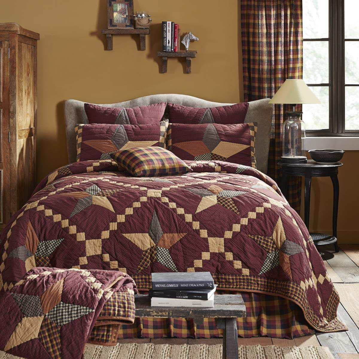 Folkways Star King Quilt 105Wx95L