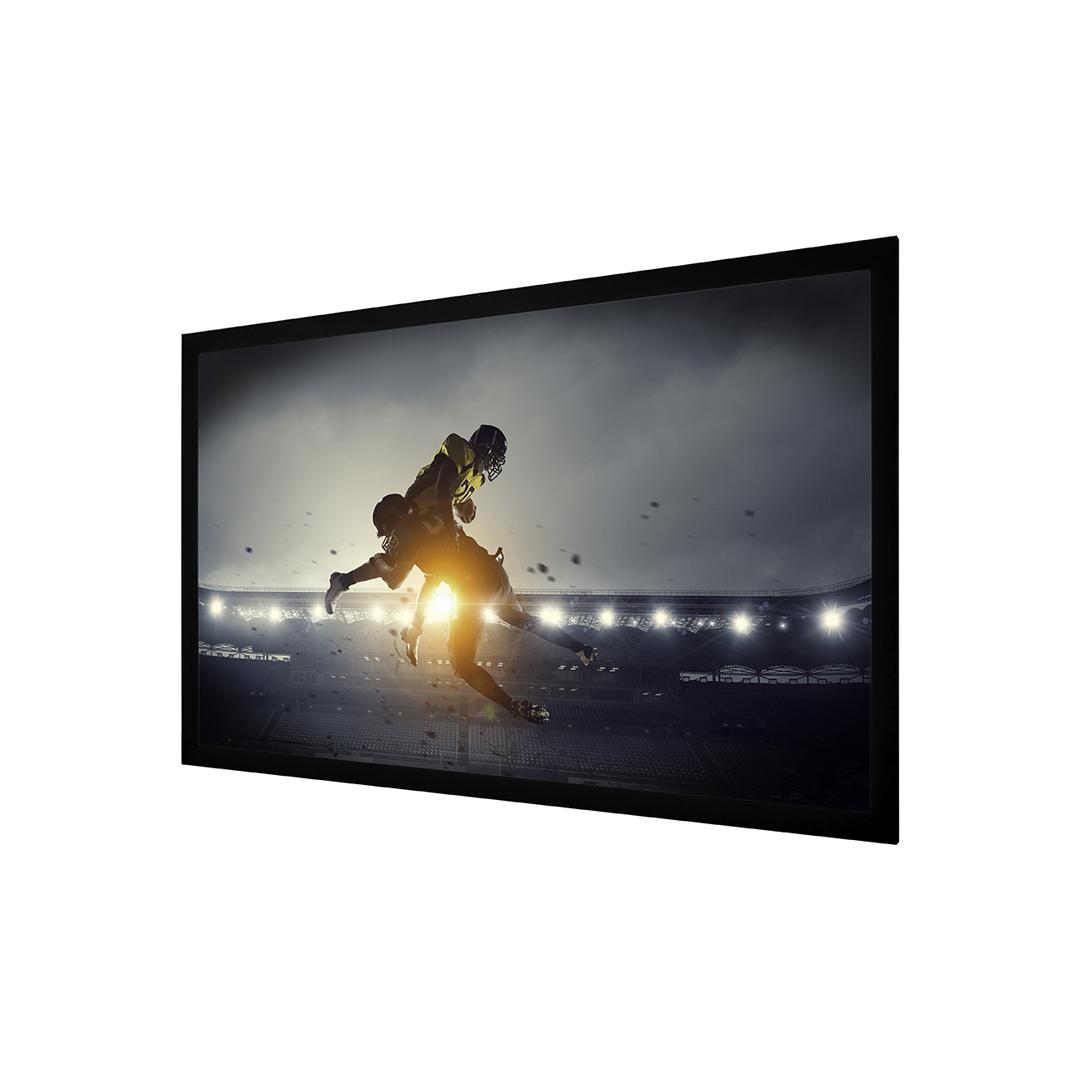 "Matte White 100"" Fixed Screen Wave Electronics"