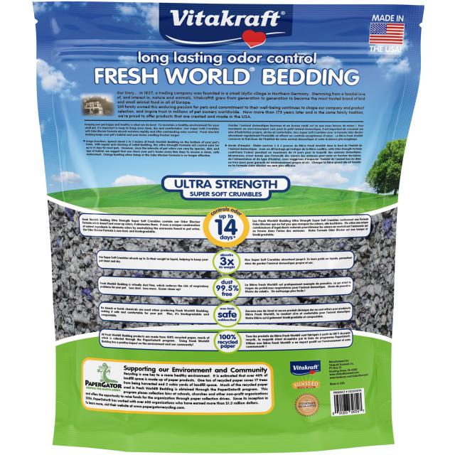 Back-Image showing Fresh World Bedding Ultra Strength