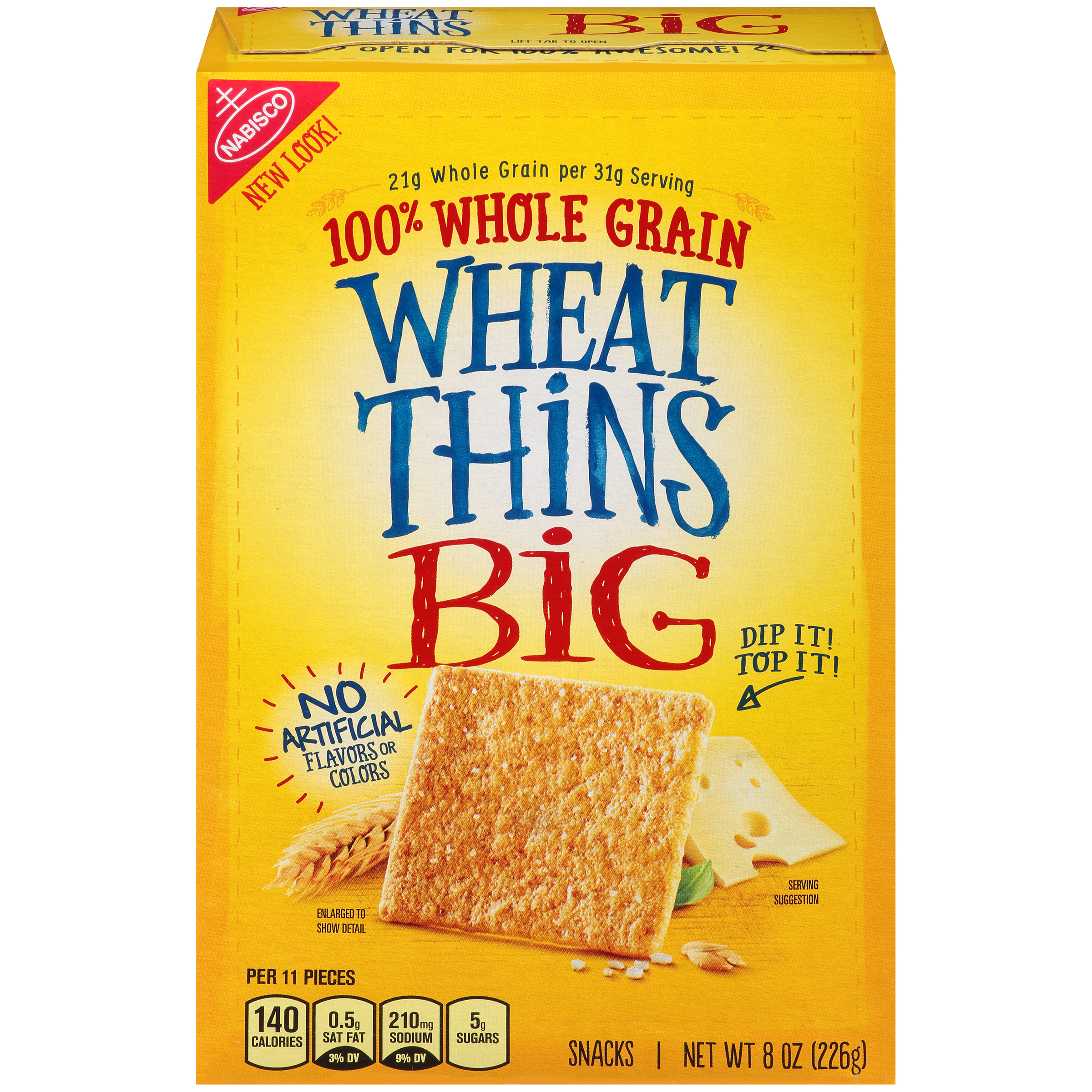 WHEAT THINS Big Baked Crackers 8 oz