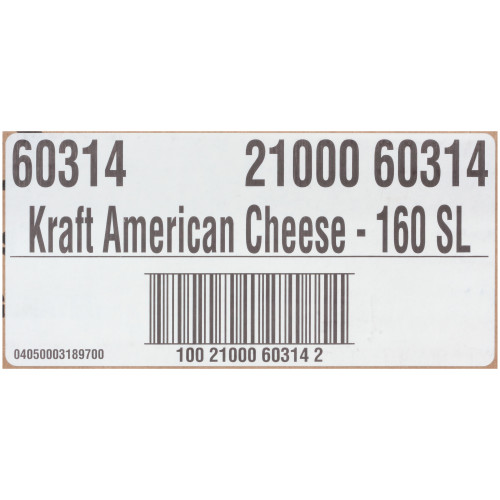 KRAFT American Sliced Cheese (160 Slices), 5 lb. (Pack of 4)