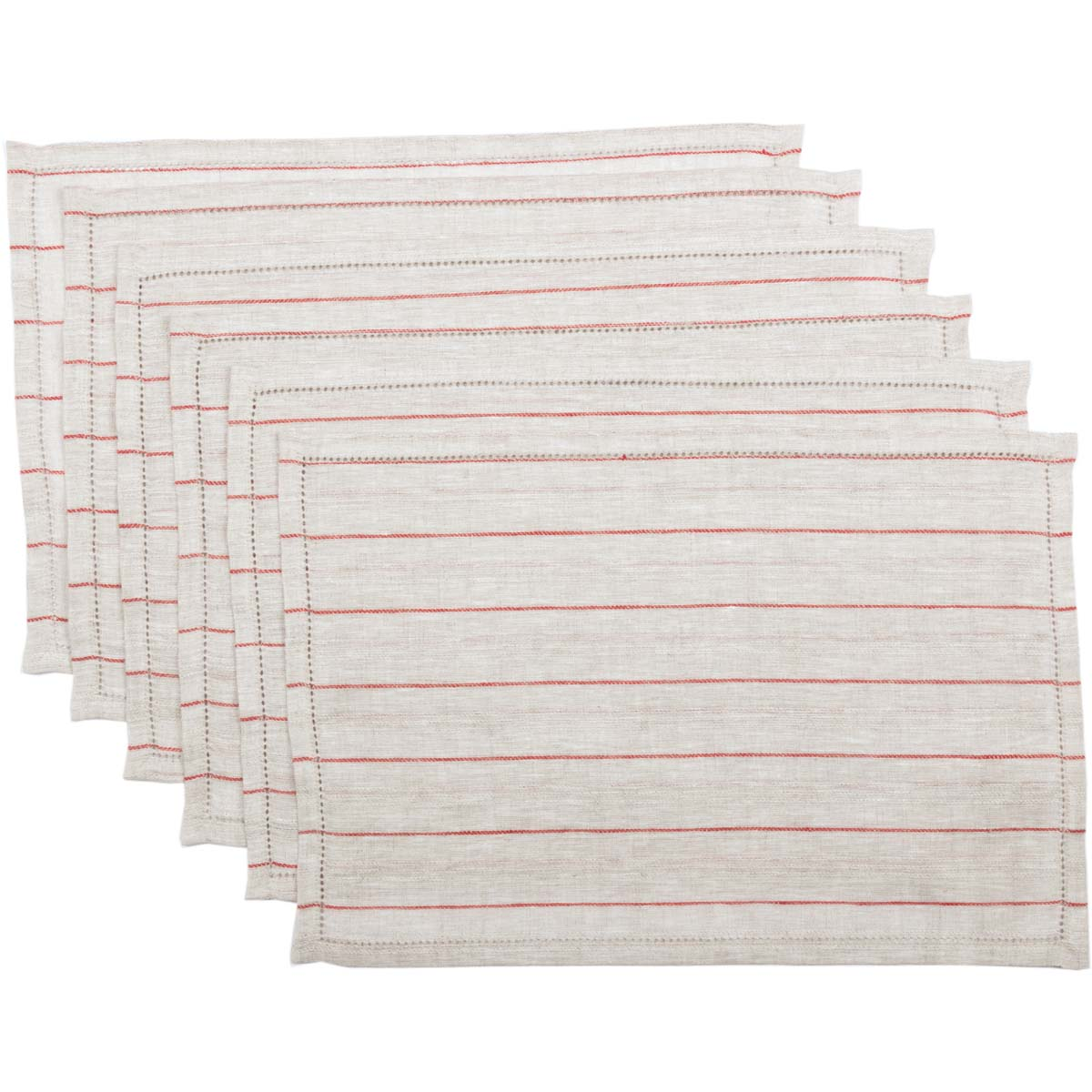 Charley Red Placemat Set of 6 12x18