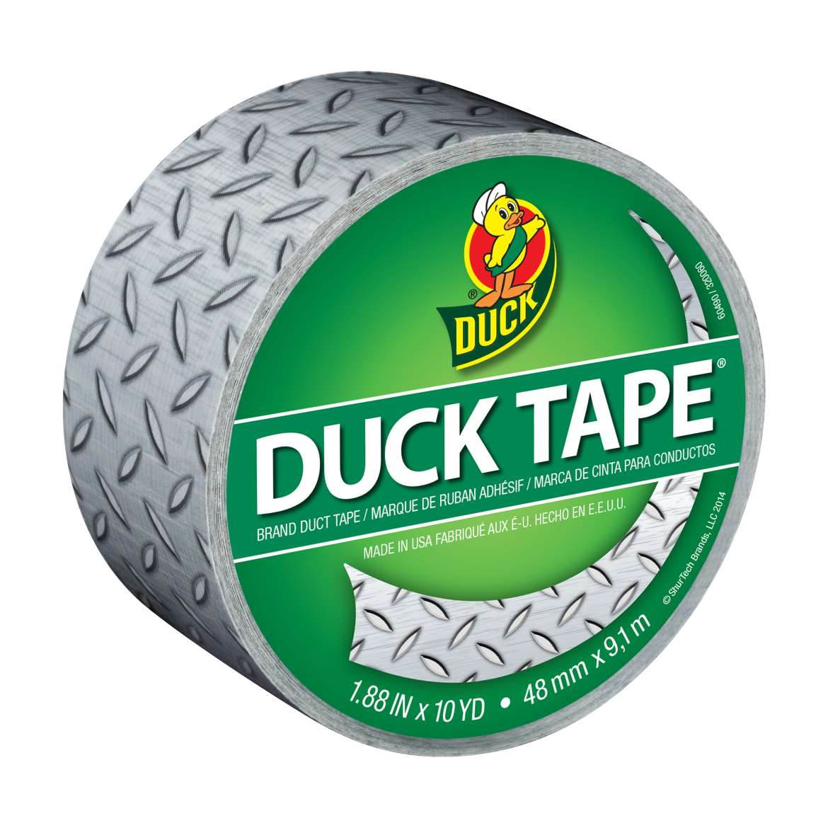 Printed Duck Tape® Brand Duct Tape - Diamond Plate, 1.88 in. x 10 yd. Image
