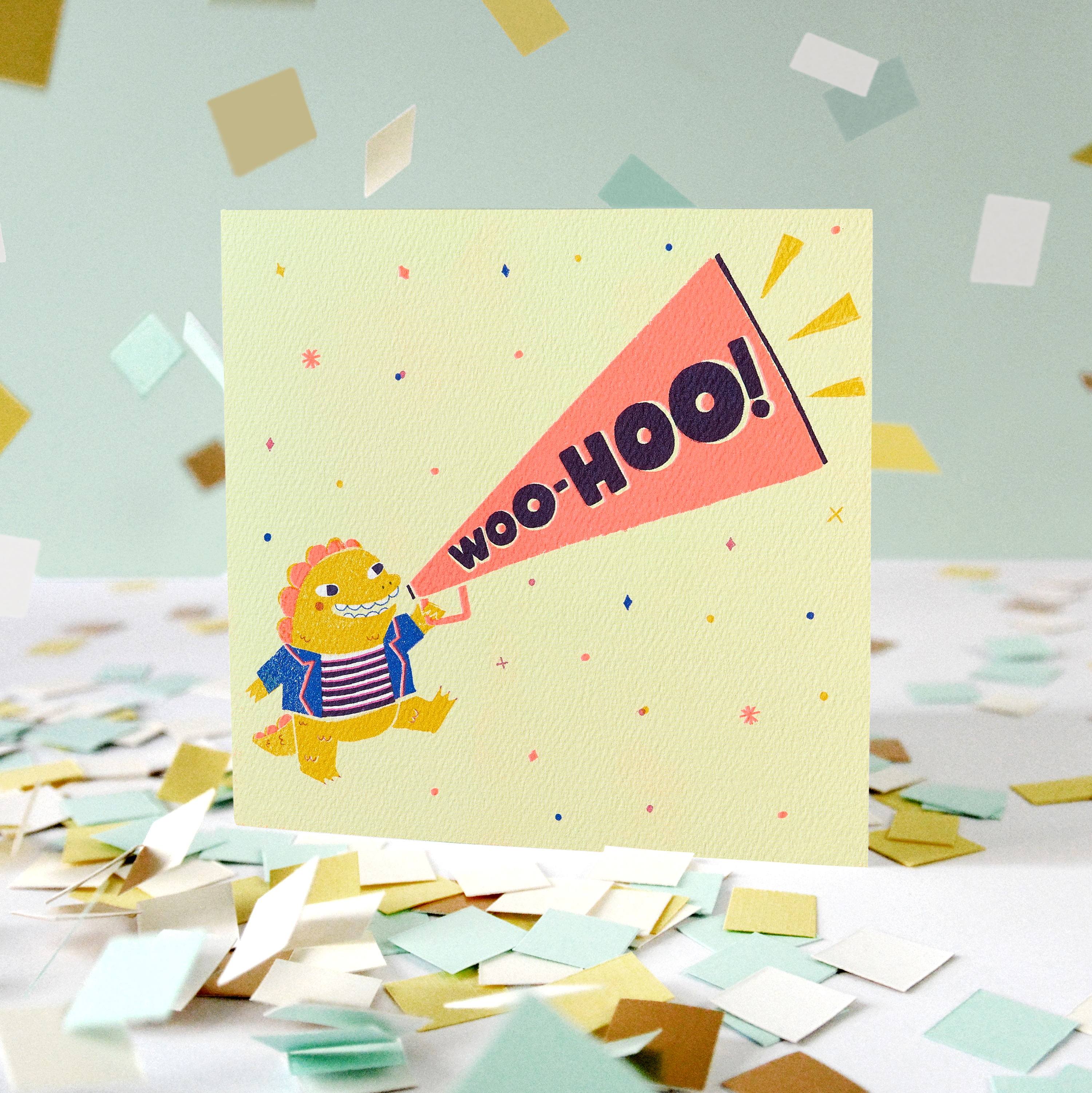 Woo-Hoo Greeting Card for Kids - Birthday, Congratulations, Thinking of You, Friendship, Encouragement image