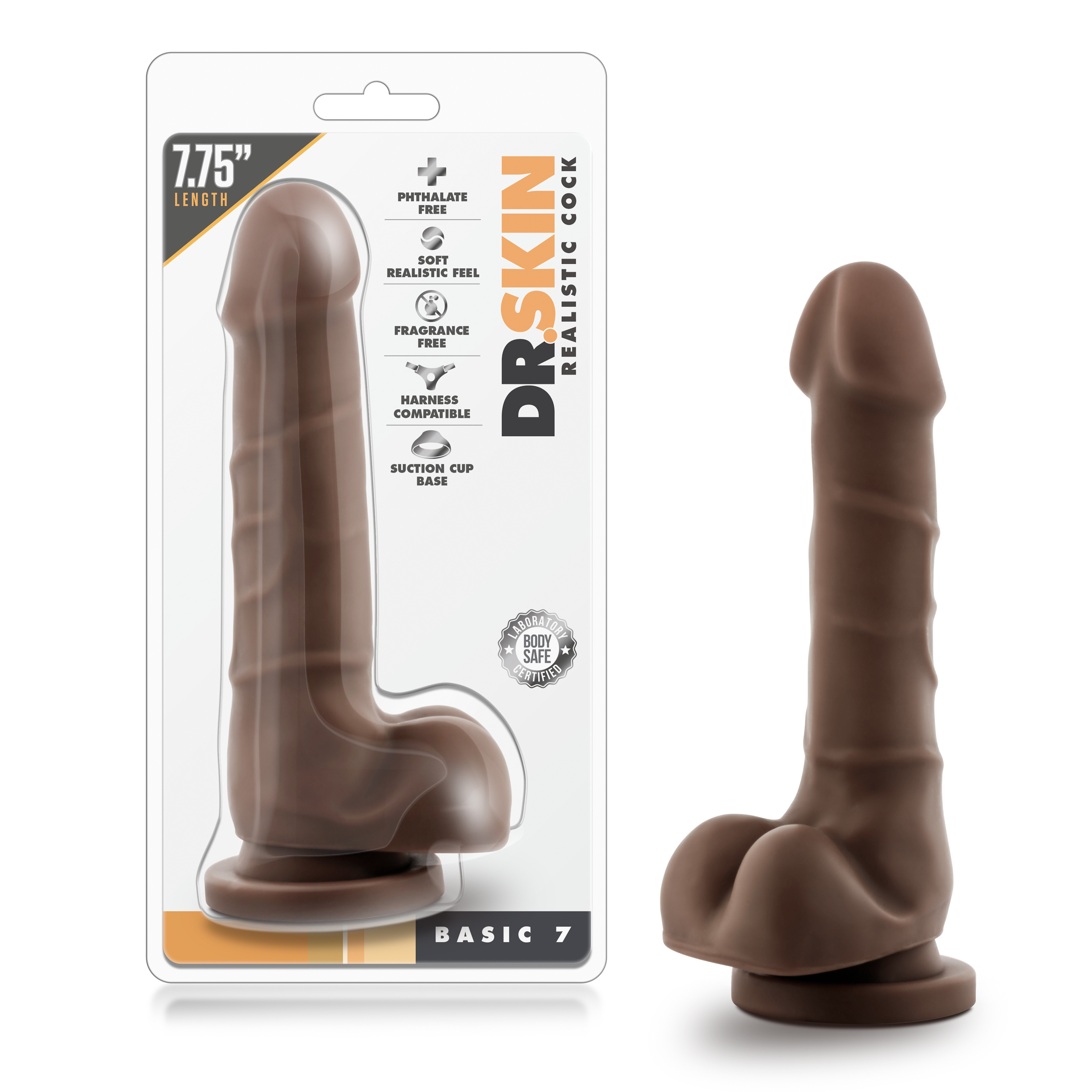 Dr. Skin - Realistic Cock - Basic 7 - Chocolate