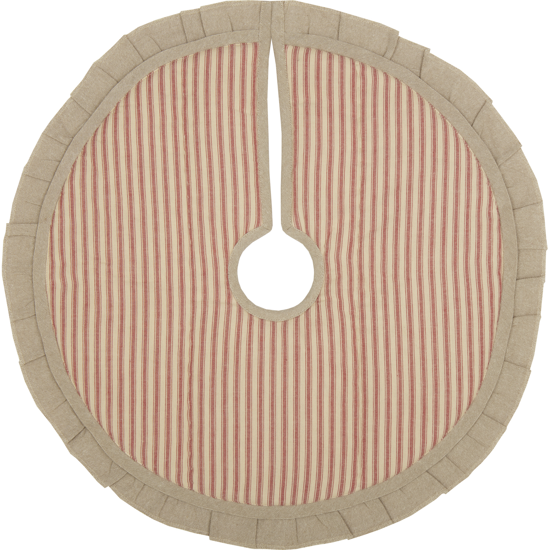 Sawyer Mill Red Ticking Stripe Mini Tree Skirt 21