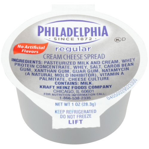 PHILADELPHIA Original Cream Cheese Spread, 1 oz. Cup (Pack of 100)