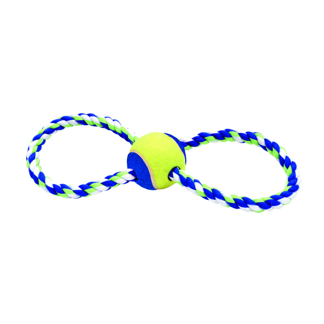 "Rascals® 12"" Figure 8 Rope Tug with Ball Dog Toy"